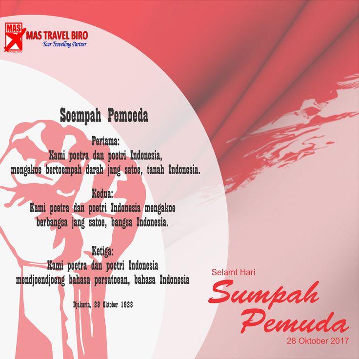 Selamat Hari Sumpah Pemuda #pemudaindonesia Semoga nilai - nilai persatuan & kesatuan senantiasa menjadi jatidiri kita BANGSA INDONESIA