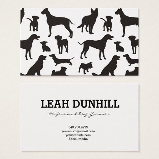 238 best dog trainer business cards images on pinterest business black and white dog pattern business card colourmoves