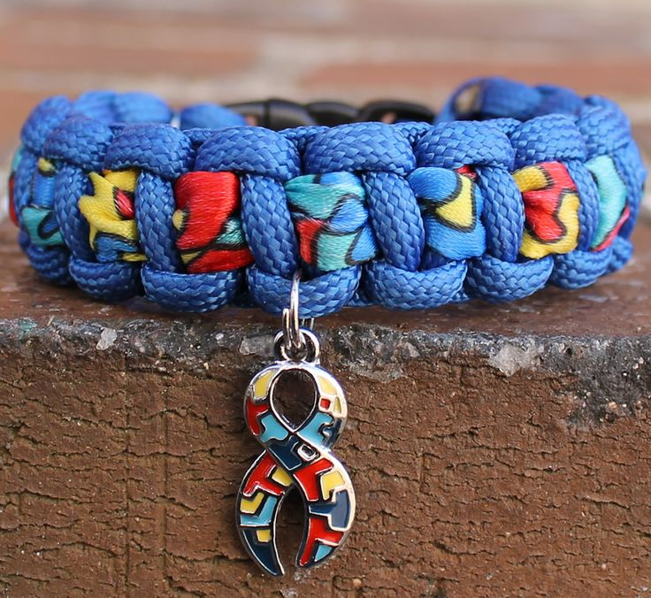 outdoor piece hope charm puzzle gear men glass paracord awareness survival aspire colorful autistic large cabochon bracelets bracelet products autism