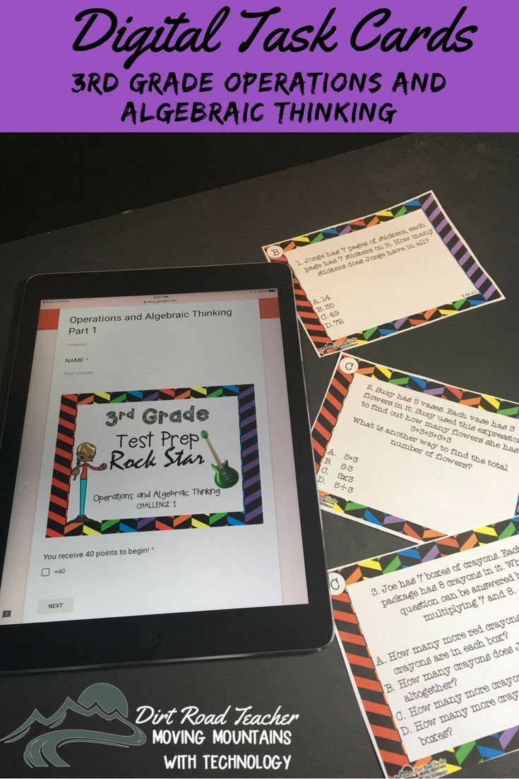 HELP your students to ROCK that END OF YEAR TEST with these fun, self-checking, no prep, paperless task cards! They are standards based and grouped by standard so that teachers can monitor student progress. They work on any classroom device! No accounts and no login required! Easy and fun test prep!