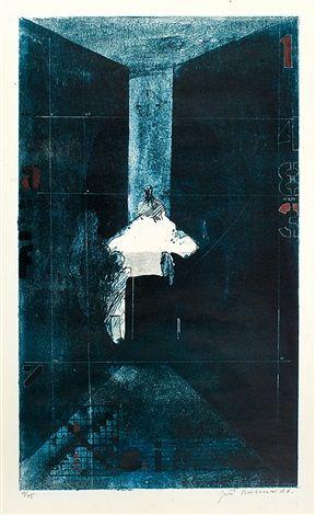 Čekání 1 - 483 by Jiri Balcar, lithograph