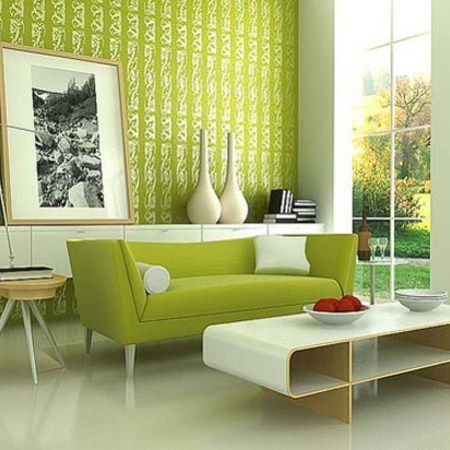 Green Contemporary Retro Living Room Designs Part 93