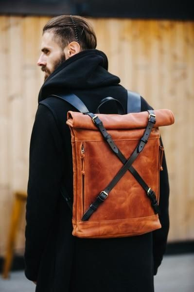 Crossroad Backpack (Brown) #backpack #bag #handcrafted #handmade #hipster #crossroad #style #fashion