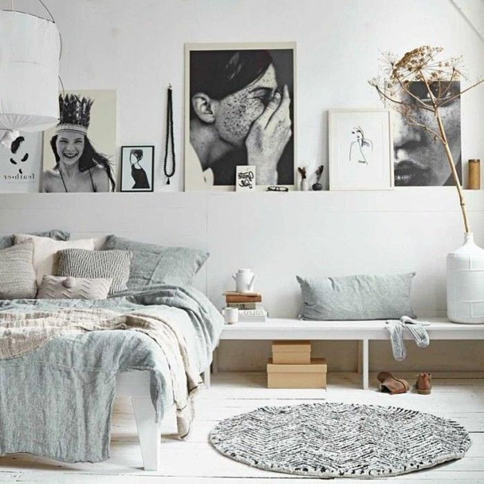 les 25 meilleures id es de la cat gorie chambres coucher blanches sur pinterest chambre. Black Bedroom Furniture Sets. Home Design Ideas