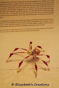 47 best Christmas -- Beaded Spiders images on Pinterest   Beaded ...