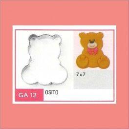 Categoría: Cortantes Metalicos Galletas - Producto: Cortante Metal Osito - Ga12 - Envase: Unidad - Presentación: X Unid. - Marca: Flogus