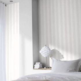 Lutece papier peint rayure gris blanc papiers peints for Papier peint lutece chambre