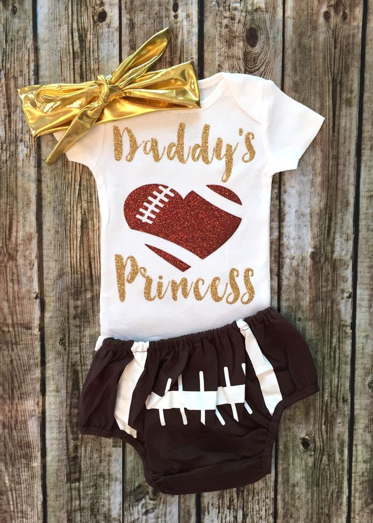 A personal favorite from my Etsy shop https://www.etsy.com/listing/399519635/baby-girl-daddys-princess-onesie