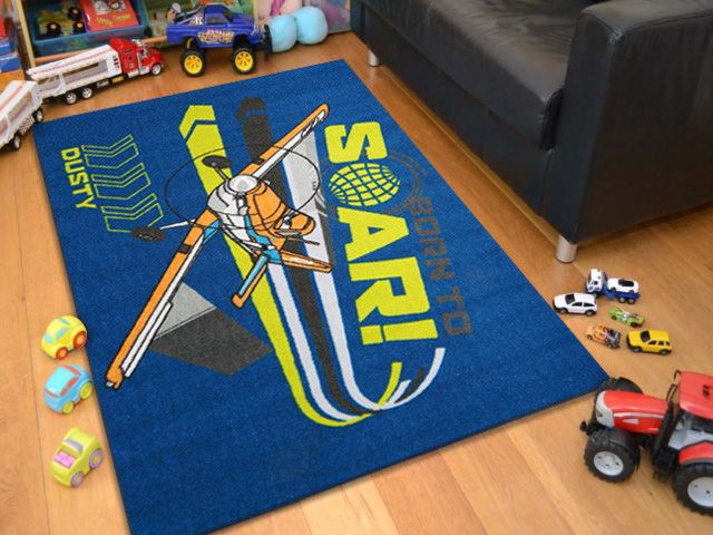 EasyBuy Licensed Navy Disney Planes Dusty Soar Kids Rug Features:  Technique: Printed Material: Nylon Rubber Backing Origin: Egypt Available  In Sizes: X ...