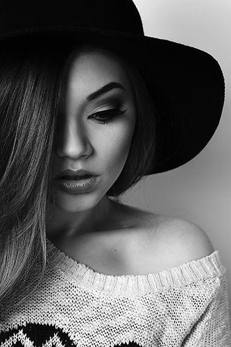 Beautiful Manuela, make-up by Cristina Foit // black & white // beauty // © andreeaiancu.com