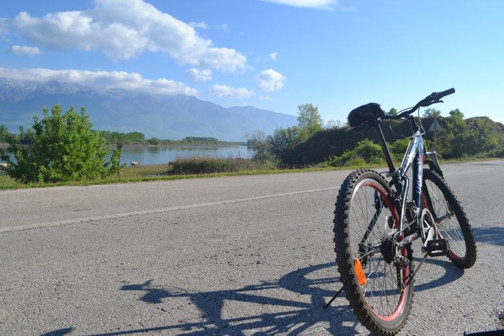 Cycling along the Lake