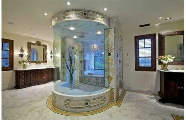 Bathroom with a fish tank shower cool ideas pinterest for A fish in the bathtub