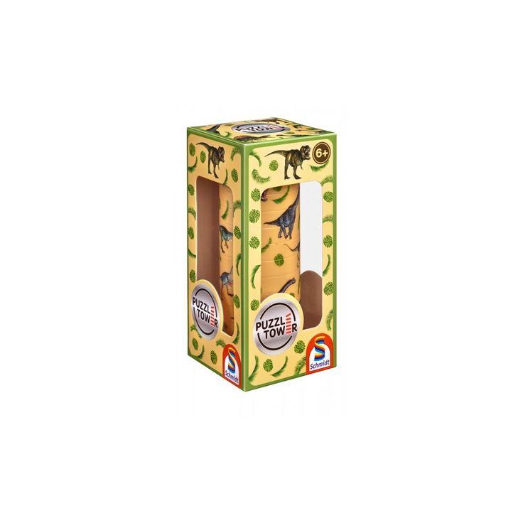 Kirakó torony- Dinoszaruruszos, Puzzle Tower Dinosaurs, logikai játék 8 éves kortól - Schmidt Spiele #AkebiaJáték #akebiajatek