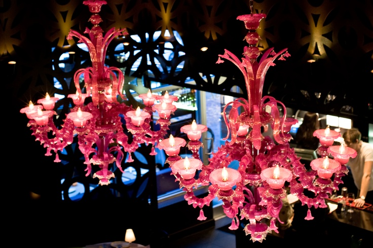 Society - Famous Pink Chandeliers