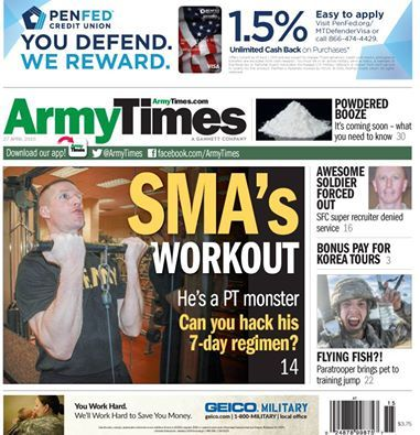 ArmyTimes ..... In this week's issue of Army Times, SMA Dailey ...