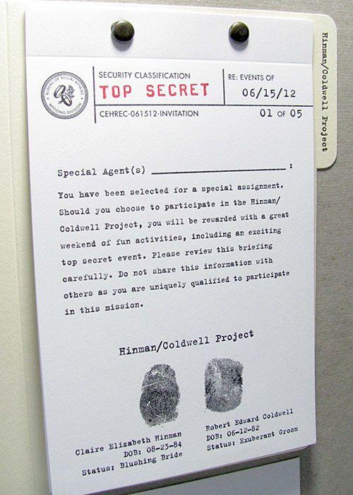 17 Best images about Detective Spy Secret Agent Party Ideas on – Top Secret Party Invitations