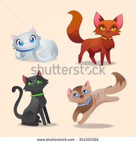 gatos animados tiernos modelos ojos - Buscar con Google