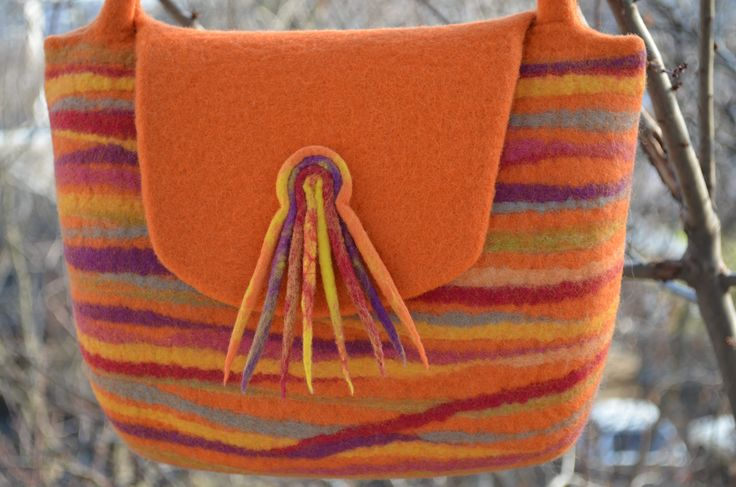 "Bag handmade from felt ""Gloria"""