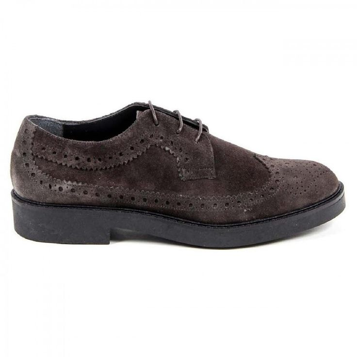 Taupe 36 IT - 6 US V 1969 Italia Womens Brogue Shoe B1670 VELOUR TAUPE