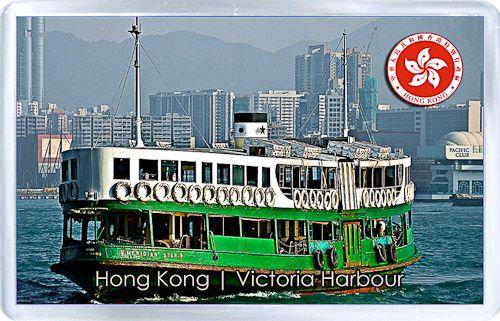 Acrylic Fridge Magnet: Hong Kong. Victoria Harbour