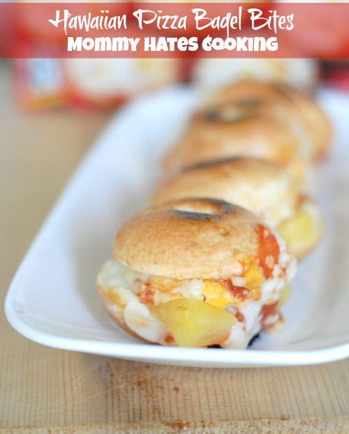 Hawaiian Pizza Bagel Bites #AfterSchoolSnacks #Shop