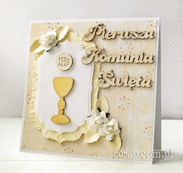 Zaproszenie na Komunię   http://www.hurt.scrap.com.pl/tekturowe-napisy-pierwsza-komunia-swieta-3szt.html http://www.hurt.scrap.com.pl/kielichy-z-hostiami-ozdobne-i-komunia-sw-4-szt.html