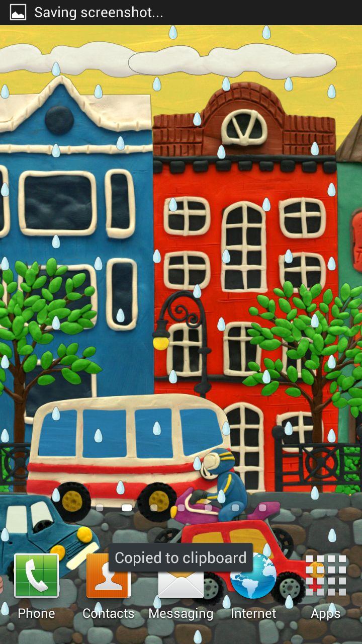 Plasticine town Live wallpaper
