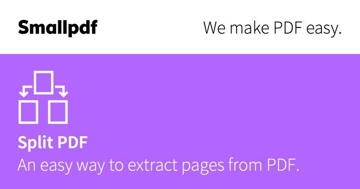 Никаких водяных знаков и ограничений размера файла - дружественное, бесплатное веб-приложение, позволяющее разделять PDF-файлы так, как вы хотите.