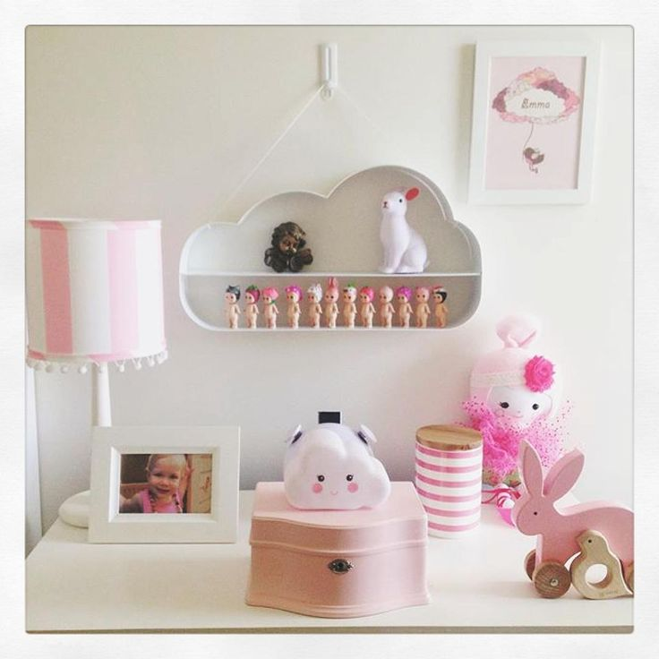 Kmart hacks aus_inspire. I love the cloud hanging shelf & little light.
