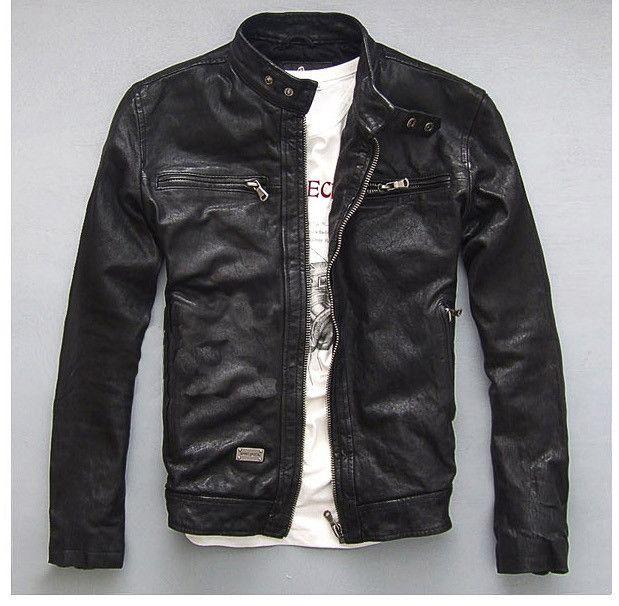 Factory Super Quality Genuine Leather Jacket Men Real Vegetable tanned Goat Skin…