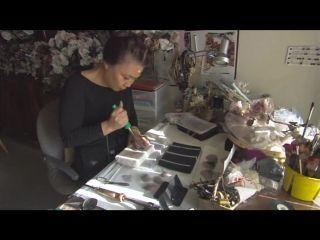 Nakamura Mutsuko, мастер-класс, по окрашиванию и сборке розы, в технике NUNOBANA | VK