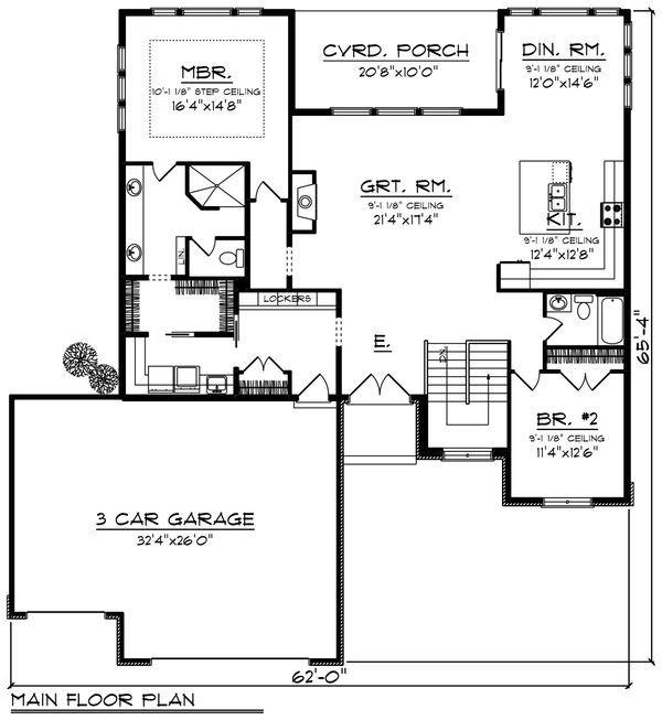 Modern Style House Plan 2 Beds 2 Baths 1959 Sq Ft Plan 70 1417 Houseplans Com In 2020 Modern Style House Plans Barn House Plans Pole Barn House Plans