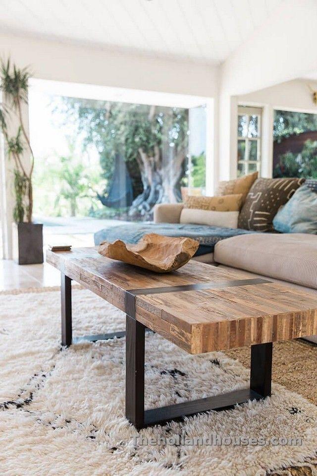 Modern Rustic Furniture Ruang Tamu Pedesaan Meja Ruang Tamu Ide Ruang Tamu Modern