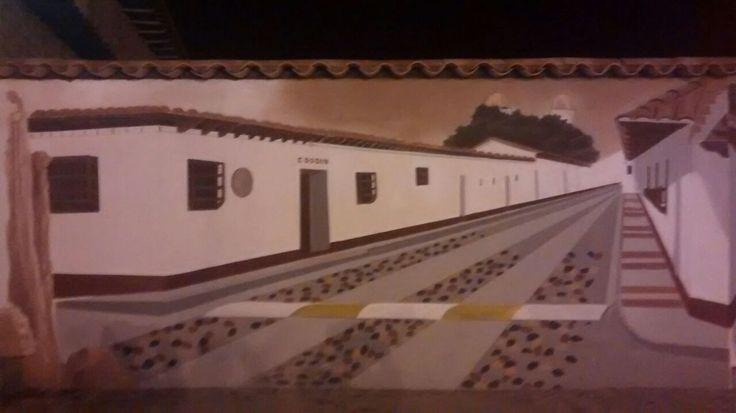 mural entrada al pueblo La Playa de Belen