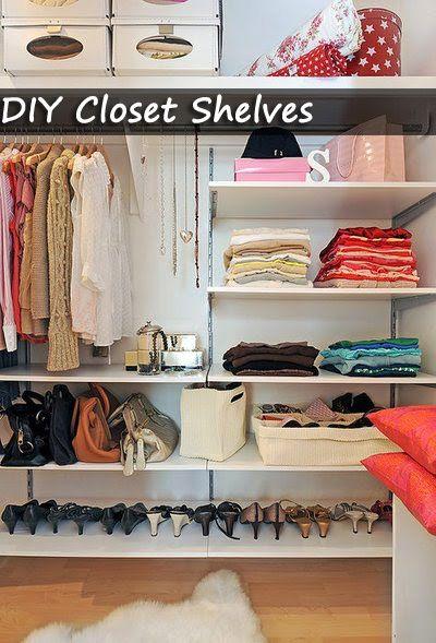 Closet shelves DIY - Organize Your Room | Bedroom Furniture Sets. #DIY #organize #closet #DIY #organize #clothes #DIY #organize #shoes #DIY #organize #scarves #DIY #organize #skirts #DIY #organize #pants #DIY #organize #shorts #DIY #organize #shirts #DIY #organize #sandals #DIY #organize #hats #DIY #organize #dresses