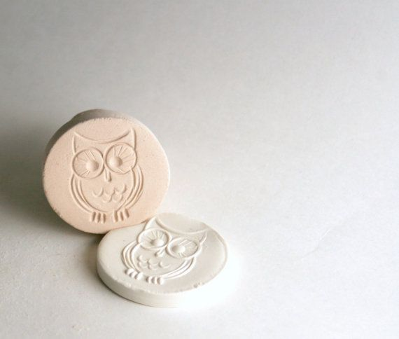 Clay Texture Stamp, Tiny Owl, Clay Bird Stamp, Handmade Tool for Pottery, Ceramics, Jewelry Making, Kids, PMC