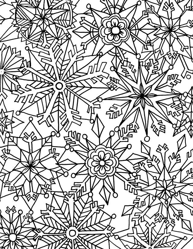 Winter Coloring Pages for Adults | Coloring | Snowflake ...
