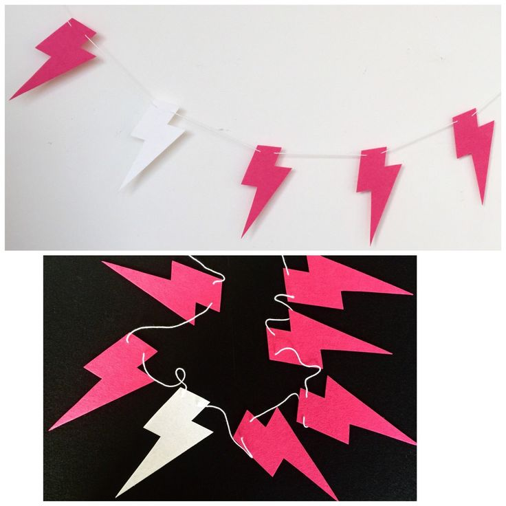 A personal favourite from my Etsy shop https://www.etsy.com/au/listing/243630637/pink-and-white-lightning-bolt-garland