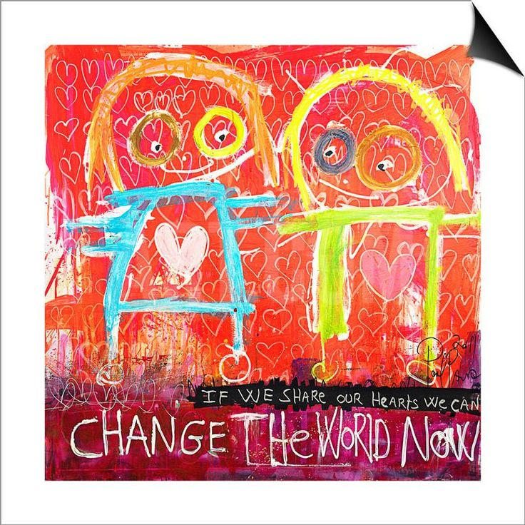 Change the World Now SwitchArt™ Print by Poul Pava at Art.com