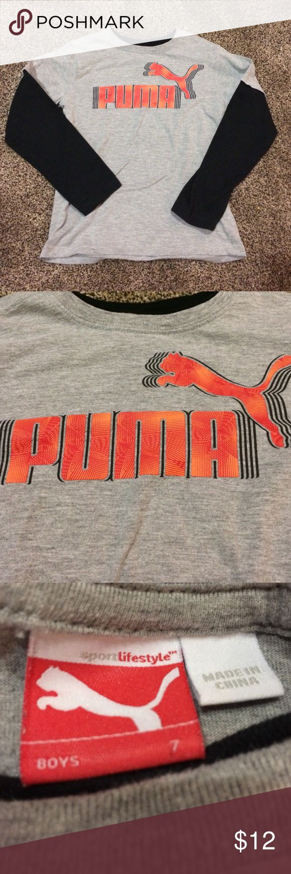 Puma shirt Long sleeve Puma shirt. Excellent condition!!! Hardly worn!! Puma Shirts & Tops Tees - Long Sleeve