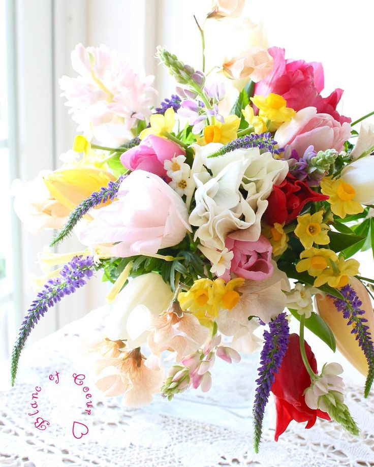 mix color bouquet ブランエクール#blanc et coeur#ウェディング#wedding#ブーケ#bouquets#フラワー#flower#ブライダル#mixcolor #tulip #anemone #pastel #naturalstyles