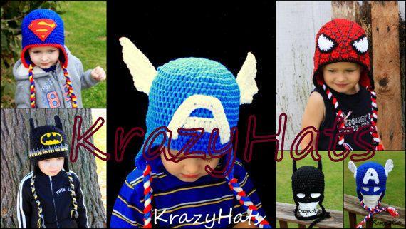 Crochet SuperHero by KrazyHats1 on Etsy, $26.99