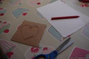 heart rubbing cards