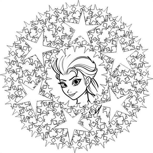 eiskönigin mandala zum drucken 4  ausmalbilder mandala