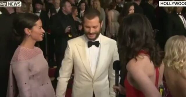 Jamie Sky News interview (part 2) #jamiedornan #AmeliaWarner #oscars