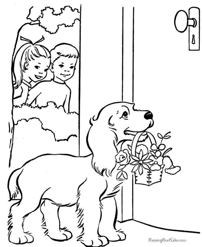 336 best Coloring book dogs images on Pinterest  Coloring books