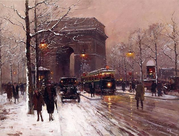 Edouard Léon Cortès, Arc de Triomphe, Paris, Winter