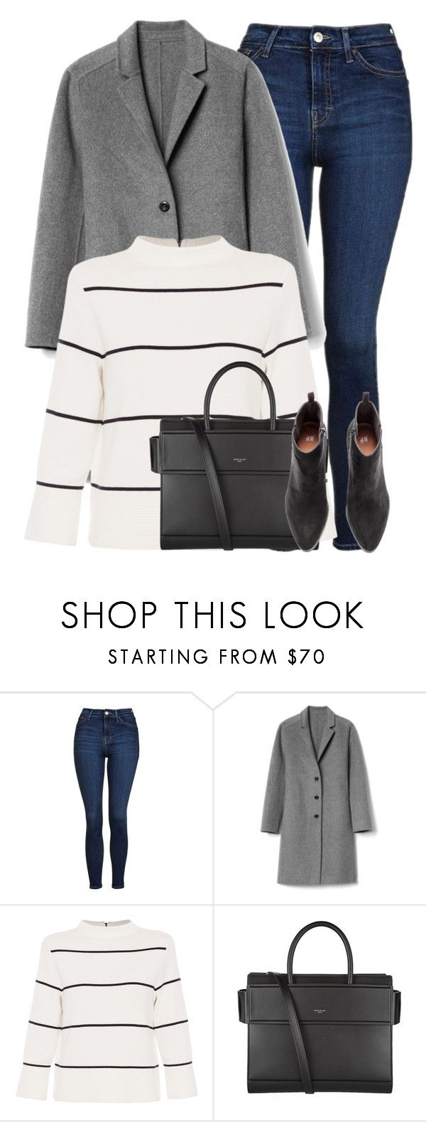 """Shopping"" by style-with-one-direction ❤ liked on Polyvore featuring Topshop, Gap, L.K.Bennett, Givenchy, stripes, Boots, jeans, jumper and jumper stripes boots jeans"
