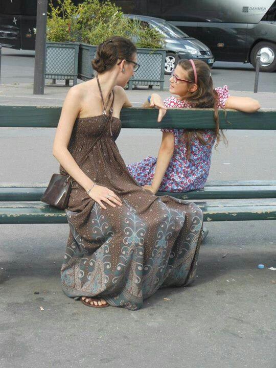 My sister and me in Paris