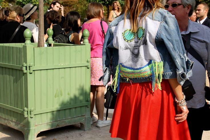 Statement denim. Paris Fashion Week Streetstyle, by Lois Spencer-Tracey of Bunnipunch